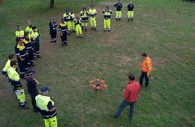 Droni per controlli frane e servizi di protezione civile