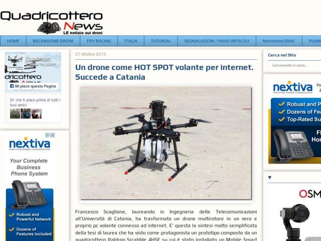 Quadricottero News del 27/10/2015